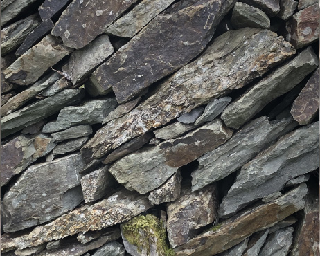 A photo of hard, cold rocks and stones